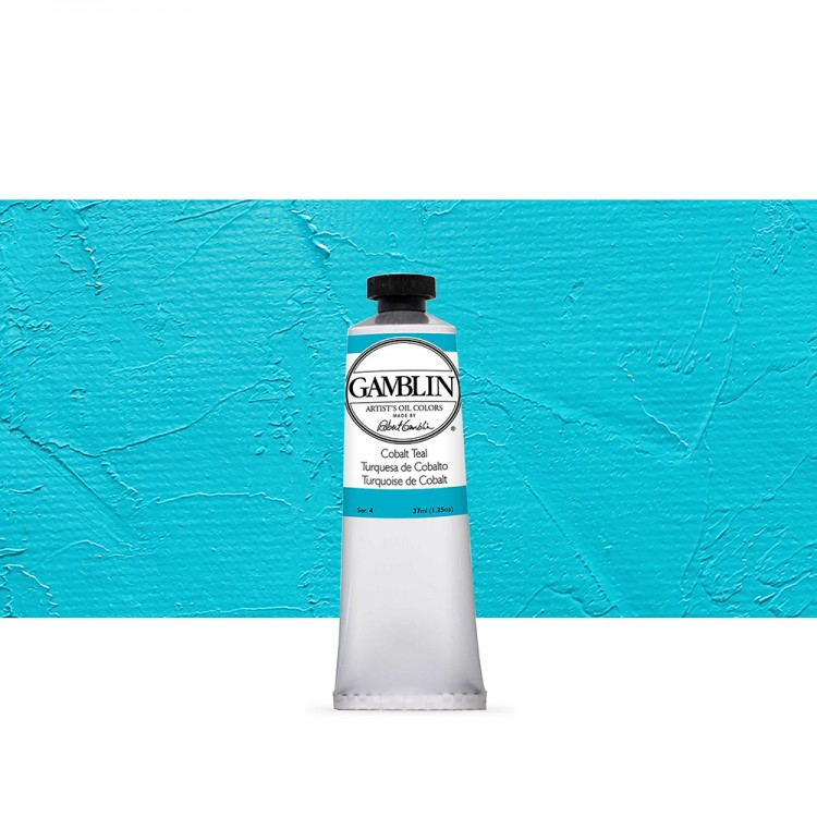 Gamblin : Artist Oil Paint : 37ml : Cobalt Teal