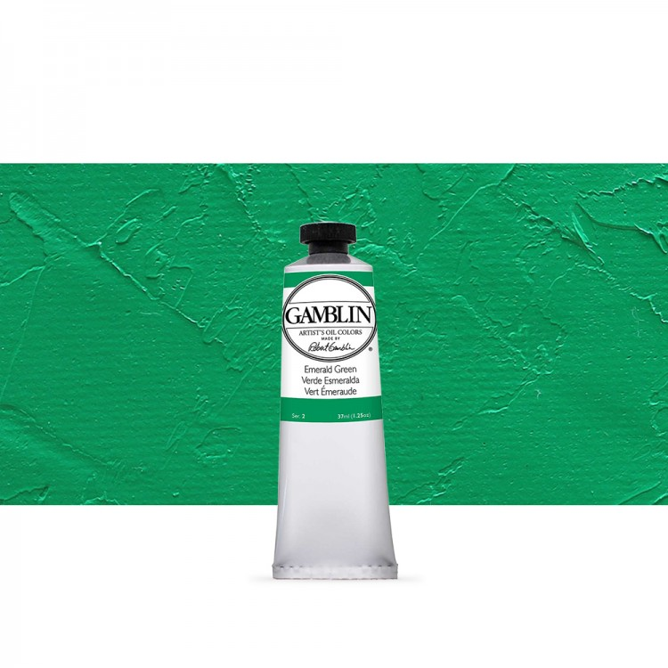 Gamblin : Artist Oil Paint 37ml : Emerald Green