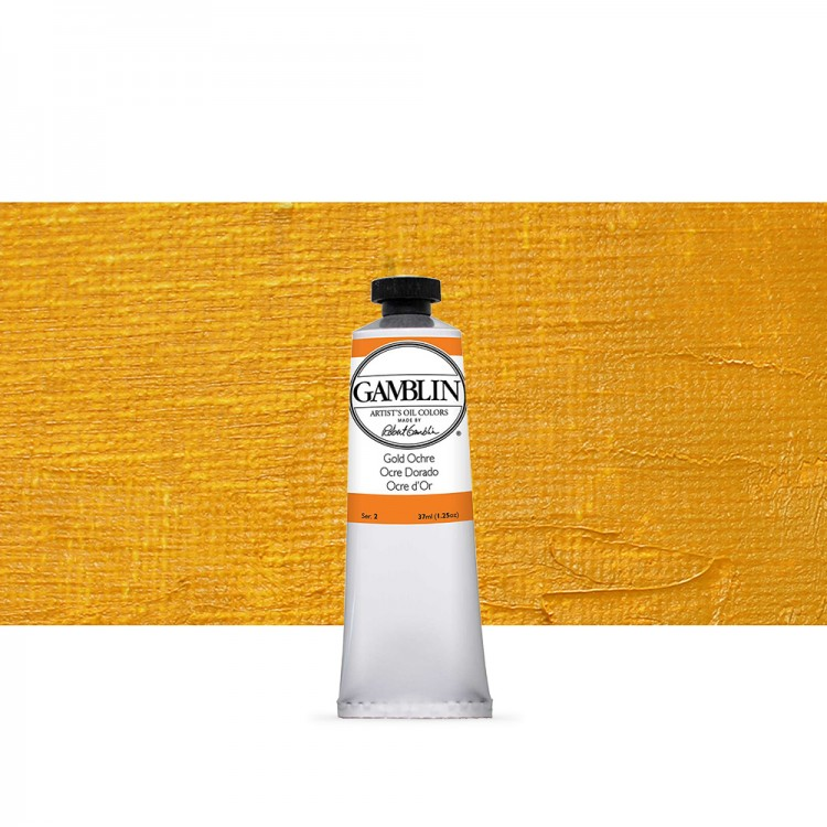 Gamblin : Artist Oil Paint : 37ml : Gold Ochre