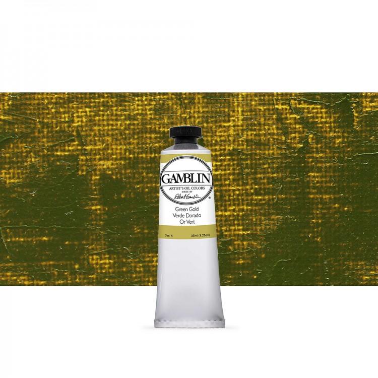 Gamblin : Artist Oil Paint : 37ml : Green Gold