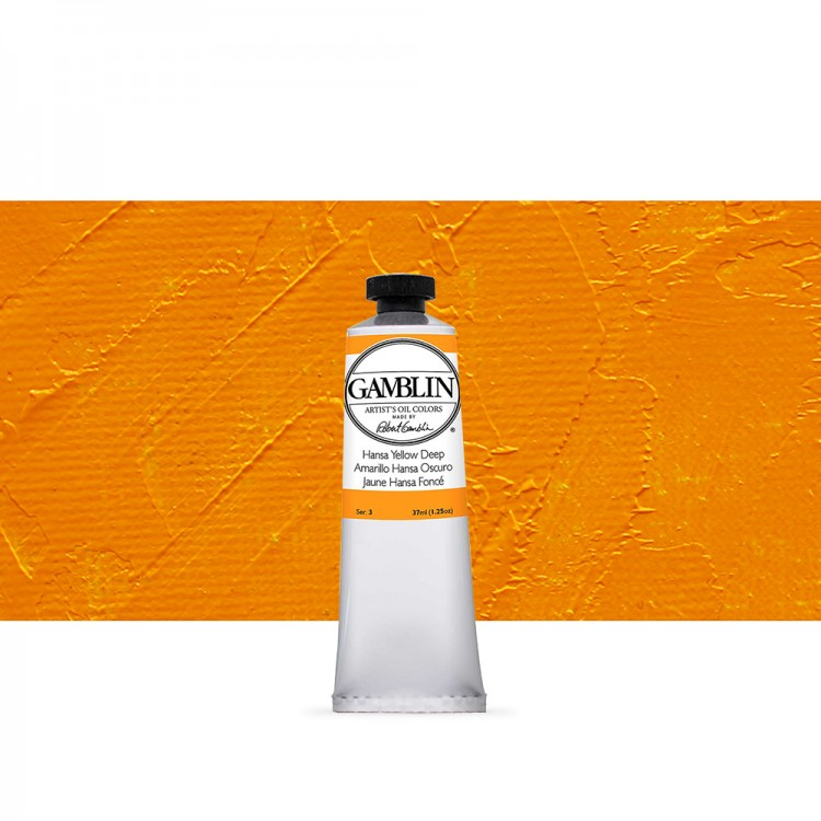 Gamblin : Artist Oil Paint 37ml : Hansa Yellow Deep