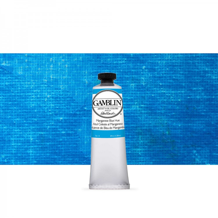 Gamblin : Artist Oil Paint : 37ml : Manganese Blue Hue