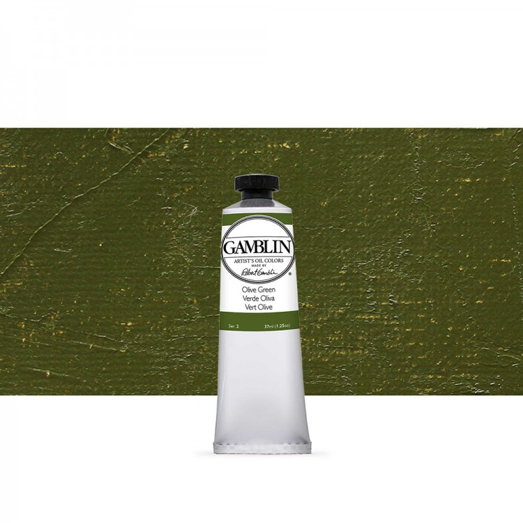 Gamblin : Artist Oil Paint : 37ml : Olive Green