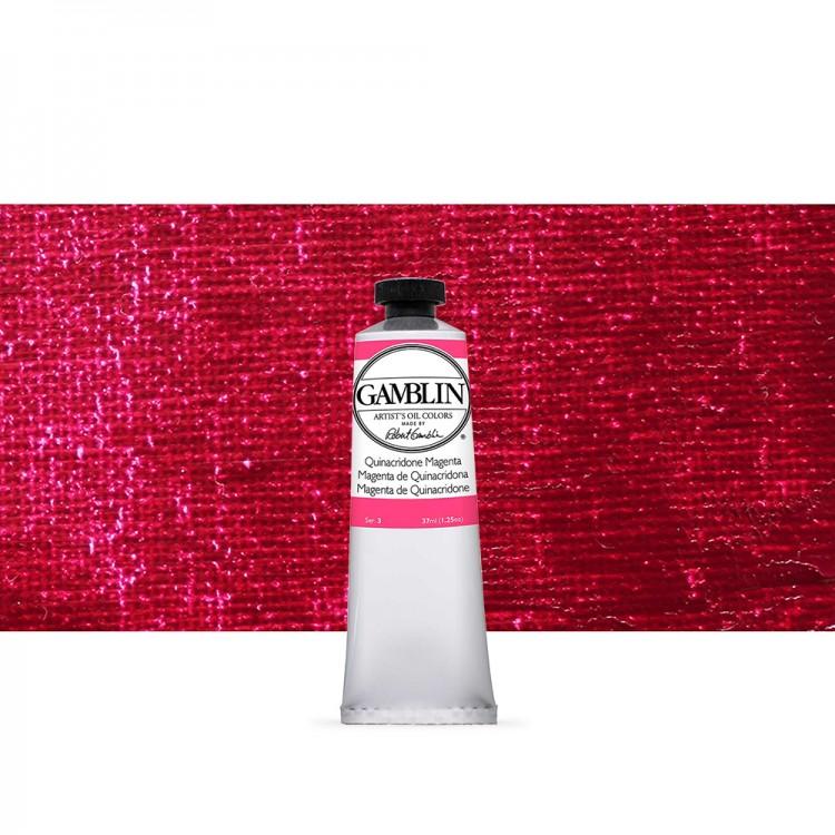 Gamblin : Artist Oil Paint 37ml : Quinacridone Magenta