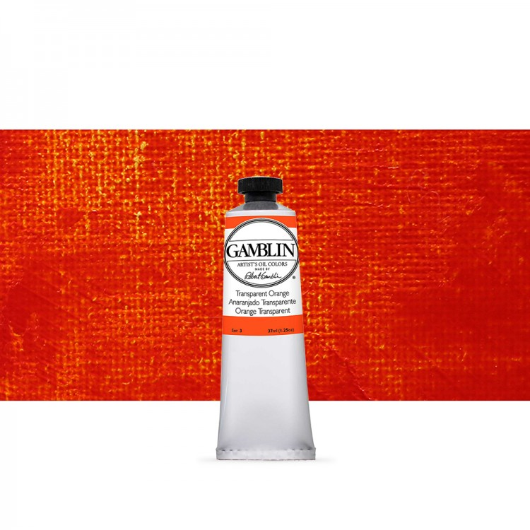 Gamblin : Artist Oil Paint : 37ml : Transparent Orange