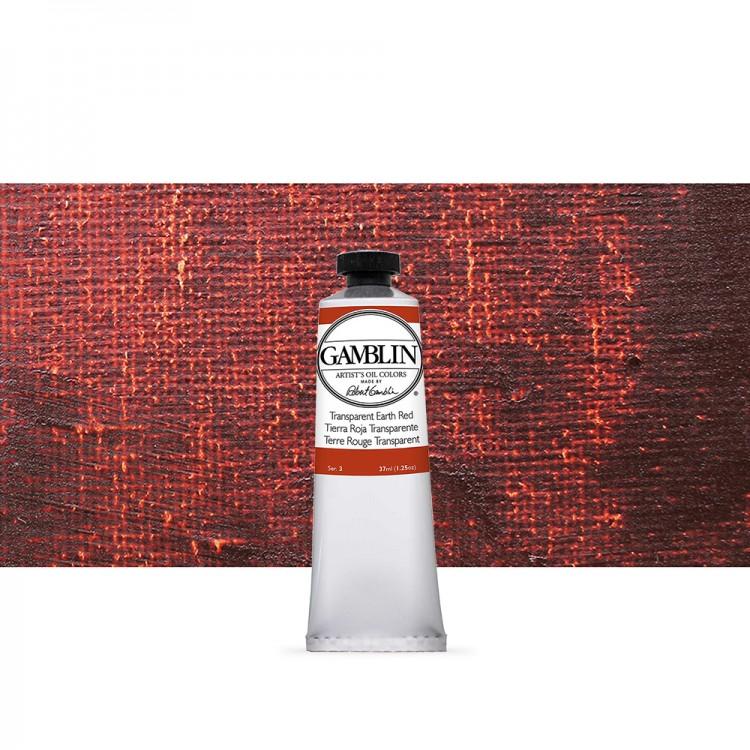 Gamblin : Artist Oil Paint : 37ml : Transparent Earth Red