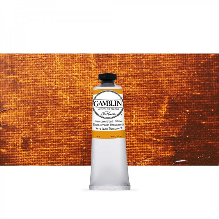 Gamblin : Artist Oil Paint : 37ml : Transparent Earth Yellow