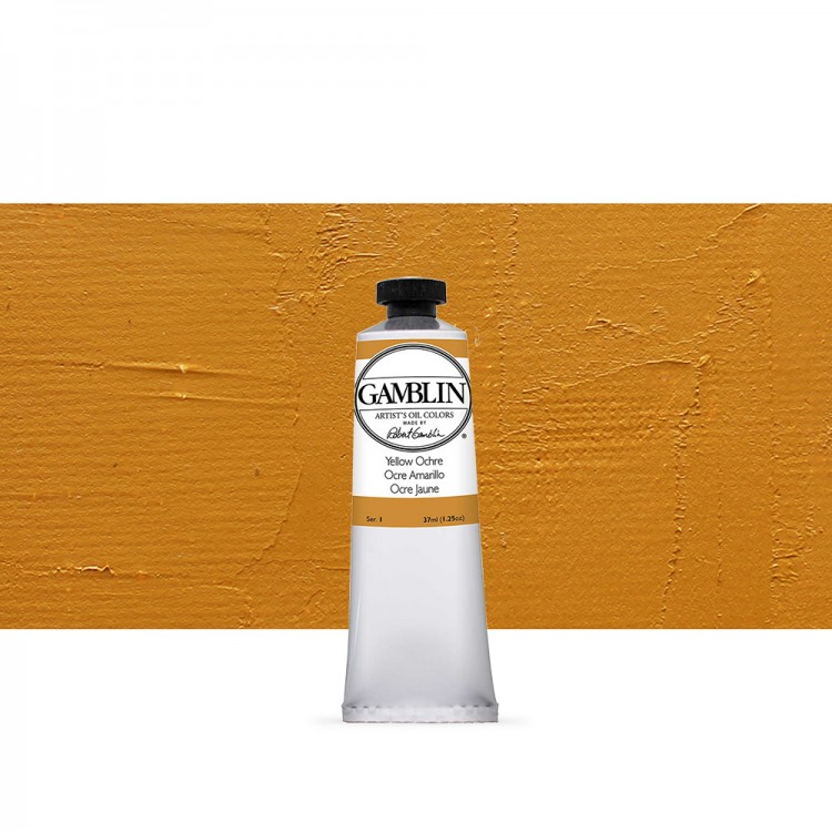 Gamblin : Artist Oil Paint : 37ml : Yellow Ochre