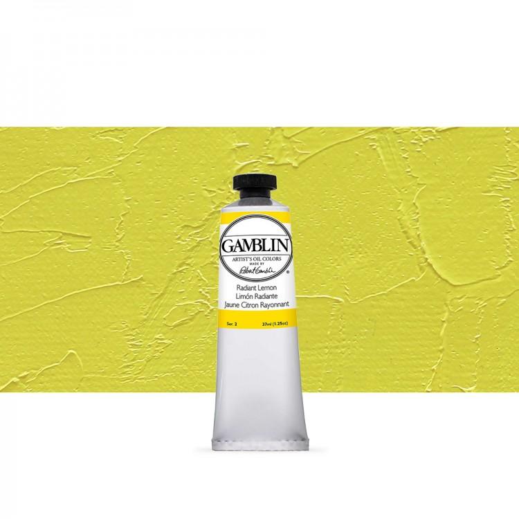 Gamblin : Artist Oil Paint : 37ml : Radiant Lemon