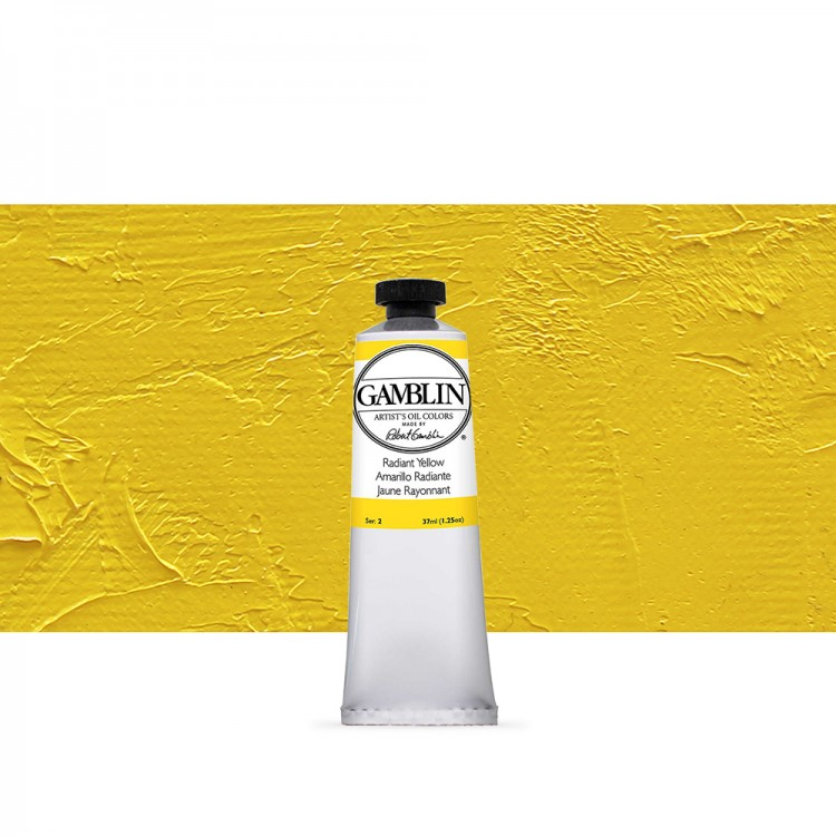 Gamblin : Artist Oil Paint : 37ml : Radiant Yellow