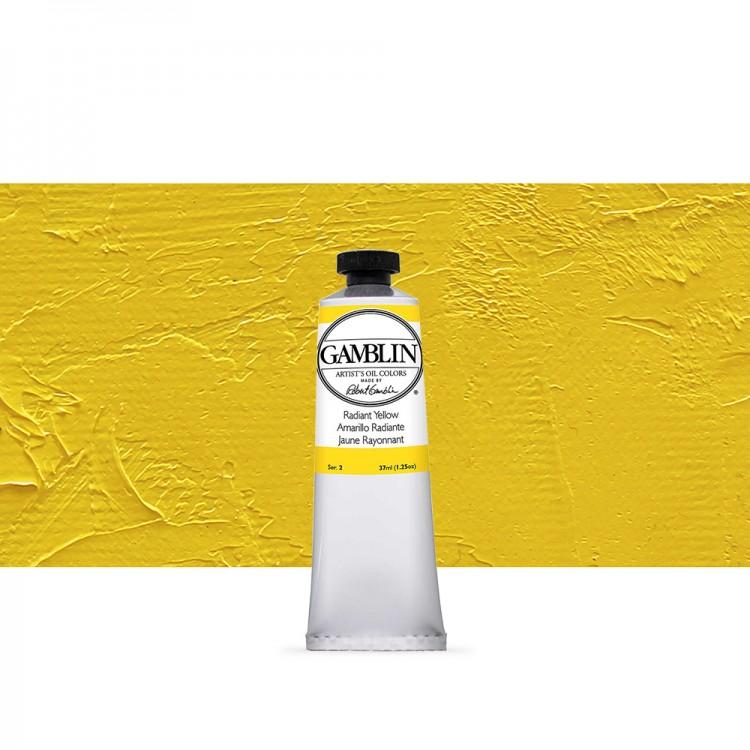 Gamblin : Artist Oil Paint : 37ml : Radiant Yellow