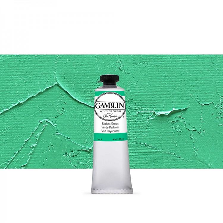 Gamblin : Artist Oil Paint : 37ml : Radiant Green