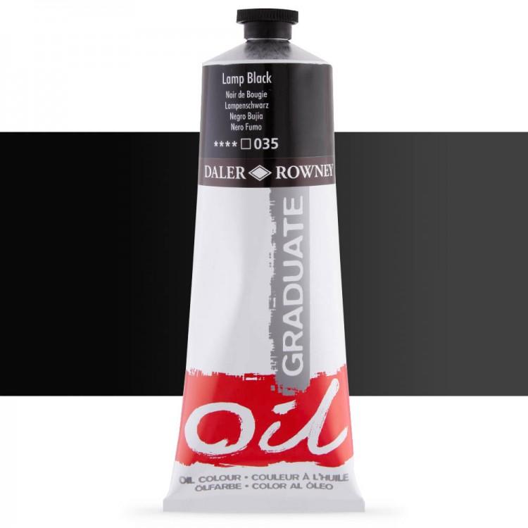 Daler Rowney : Graduate Oil Paint : 200ml : Lamp Black