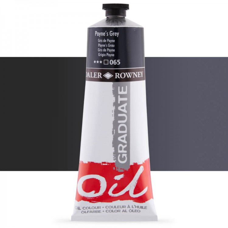 Daler Rowney : Graduate Oil Paint : 200ml : Paynes Grey