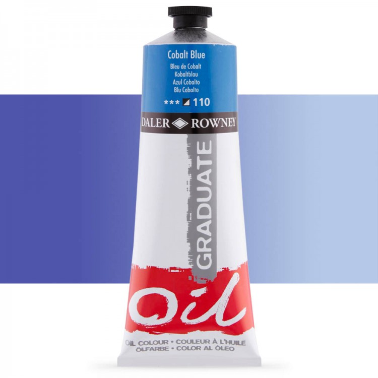 Daler Rowney : Graduate Oil Paint : 200ml : Cobalt Blue