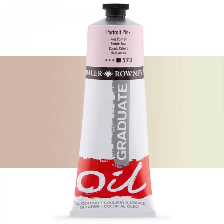 Daler Rowney : Graduate Oil Paint : 200ml : Portrait Pink