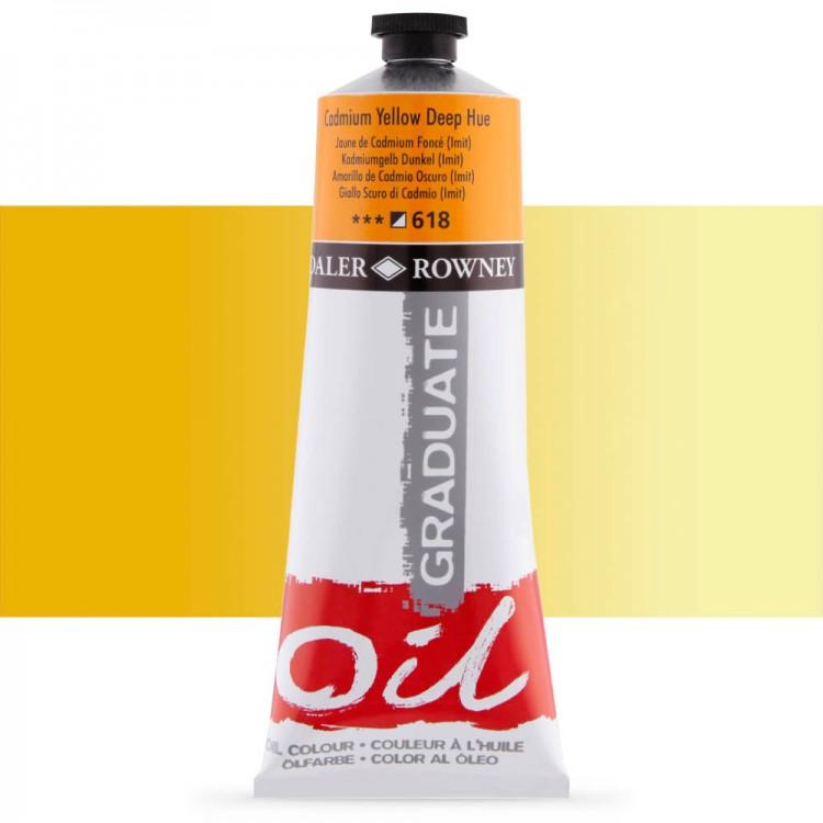 Daler Rowney : Graduate Oil Paint : 200ml : Cadmium Yellow Deep Hue