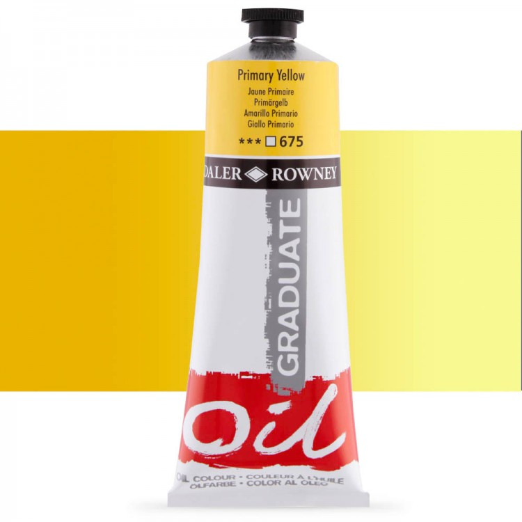 Daler Rowney : Graduate Oil Paint : 200ml : Primary Yellow