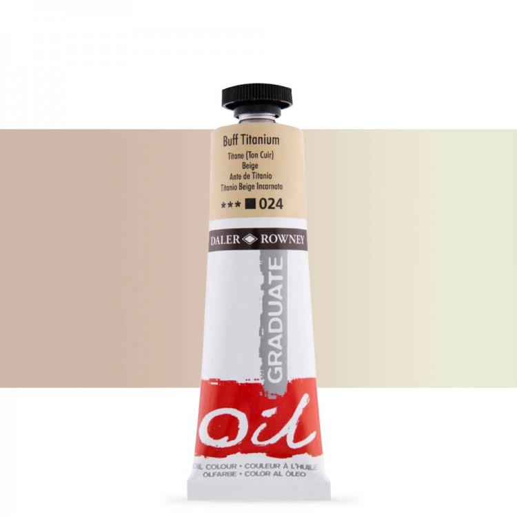 Daler Rowney : Graduate Oil Paint : 38ml : Buff Titanium