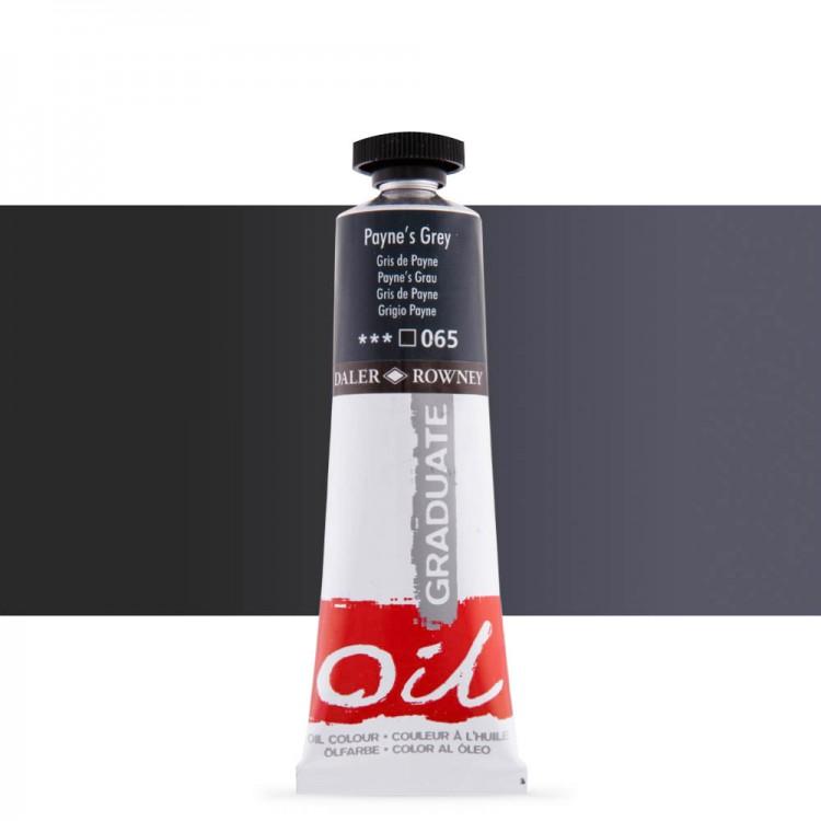 Daler Rowney : Graduate Oil Paint : 38ml : Paynes Grey
