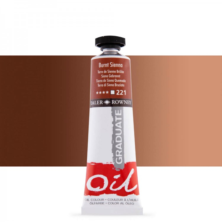Daler Rowney : Graduate Oil Paint : 38ml : Burnt Sienna