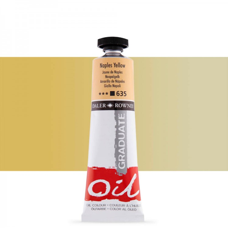 Daler Rowney : Graduate Oil Paint : 38ml : Naples Yellow