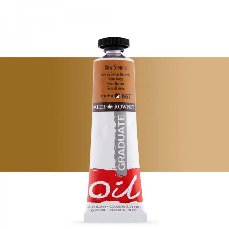 Daler Rowney : Graduate Oil Paint : 38ml : Raw Sienna