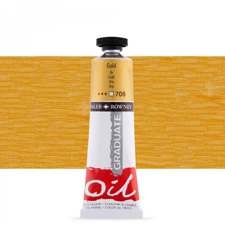 Daler Rowney : Graduate Oil Paint : 38ml : Gold