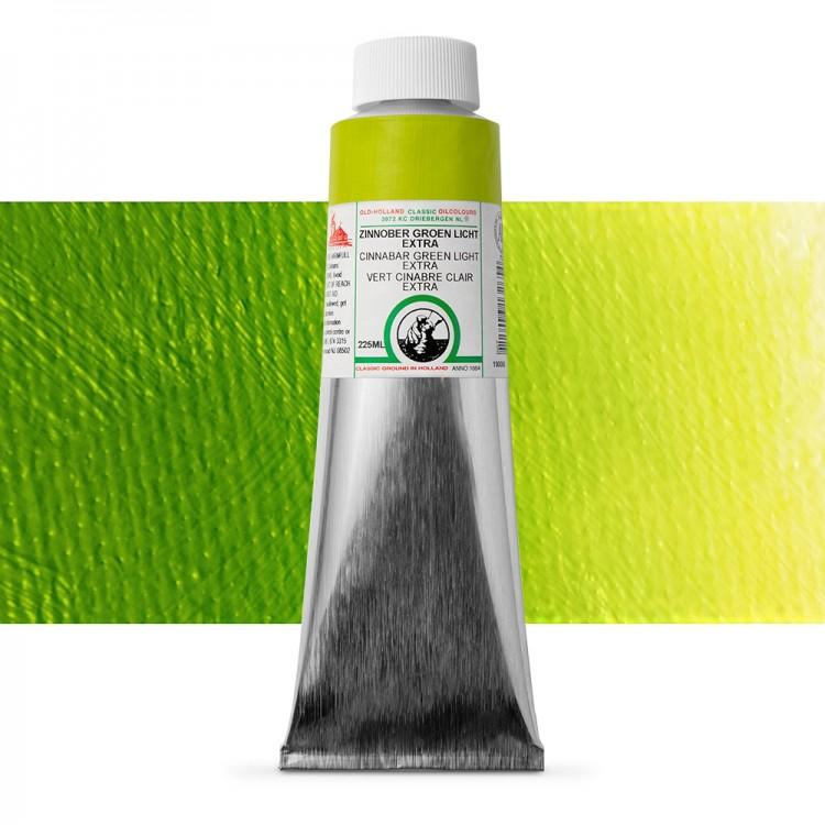 Old Holland : Classic Oil : 225ml Cinnabar Green Light Ext