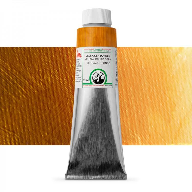 Old Holland : Classic Oil : 225ml Yellow Ochre Deep