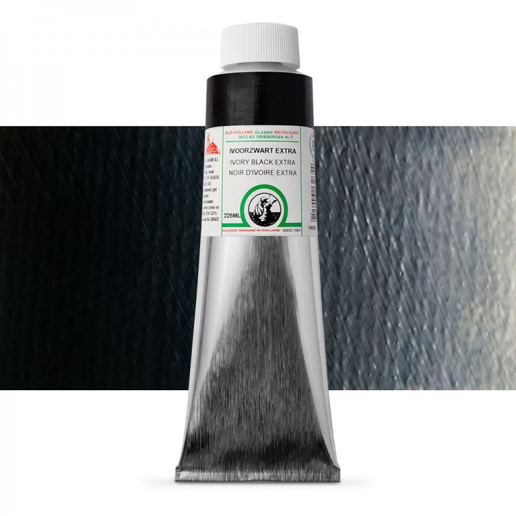 Old Holland : Classic Oil : 225ml Ivory Black