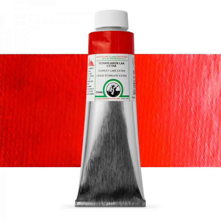 Old Holland : Classic Oil : 225ml Scarlet Lake Extra