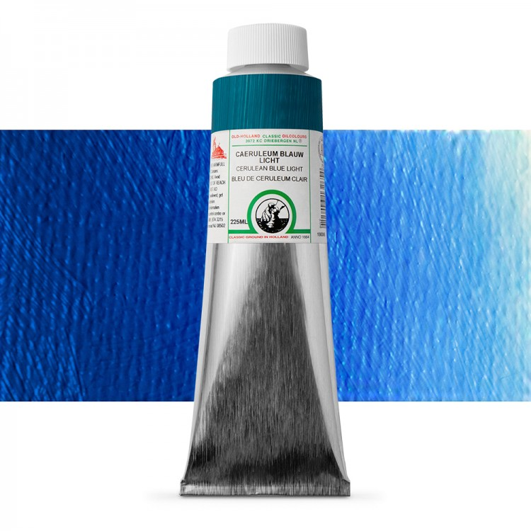 Old Holland : Classic Oil : 225ml Cerulean Blue Light