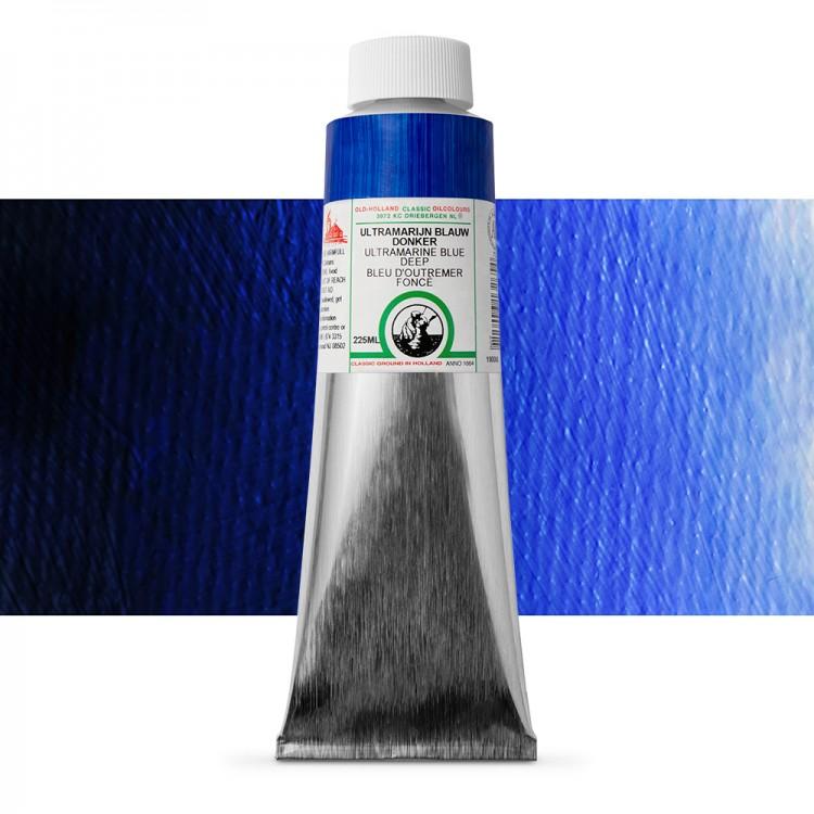 Old Holland : Classic Oil : 225ml Ultramarine Blue Dee