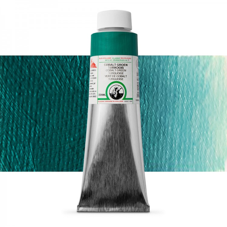 Old Holland : Classic Oil : 225ml Cobalt Green Turquoise