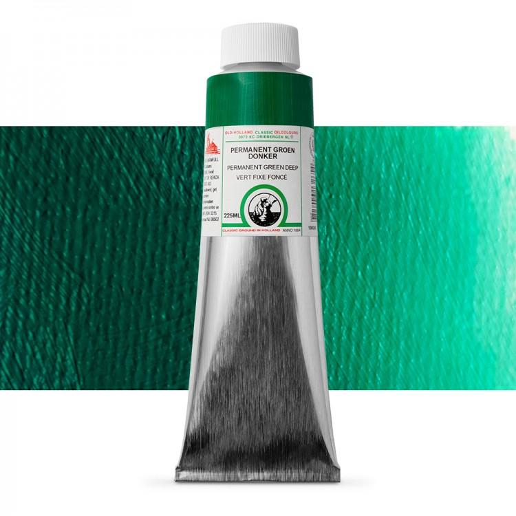 Old Holland : Classic Oil Paint : 225ml : Permanent Green Deep