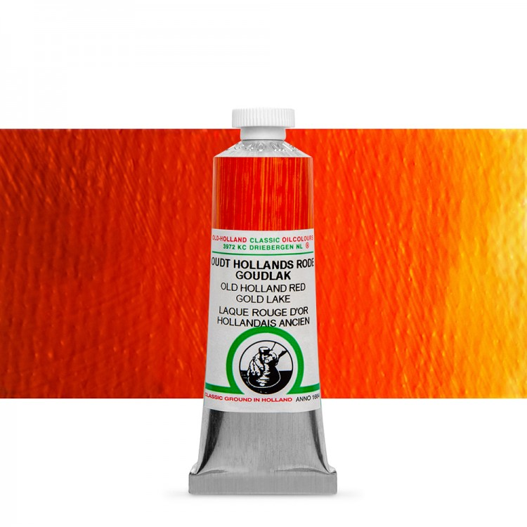 Old Holland : Classic Oil : 40ml Red Gold Lake