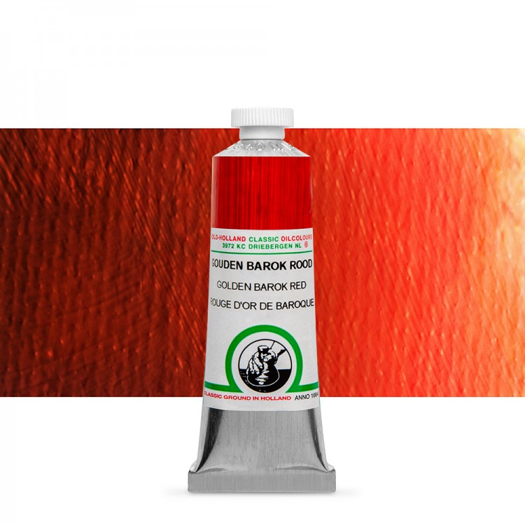Old Holland : Classic Oil Paint : 40ml : Golden Barok Red