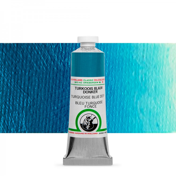 Old Holland : Classic Oil : 40ml Turquoise Blue Deep