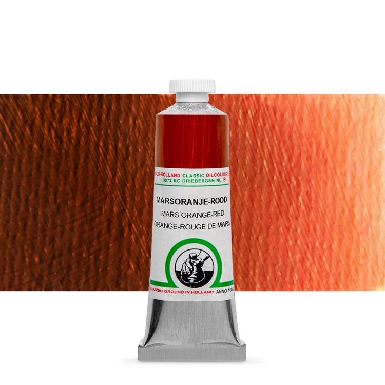 Old Holland : Classic Oil : 40ml Mars Orange-Red