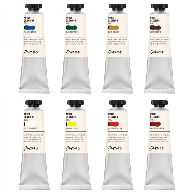 Jackson's : Artist Oil Paint : 60ml : Set Of 8