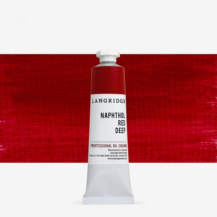 Langridge : Oil Paint : 40ml : Naphthol Red Deep