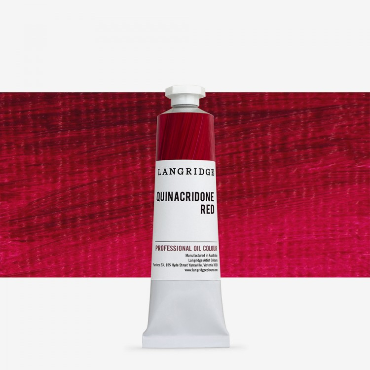 Langridge : Oil Paint : 40ml : Quinacridone Red