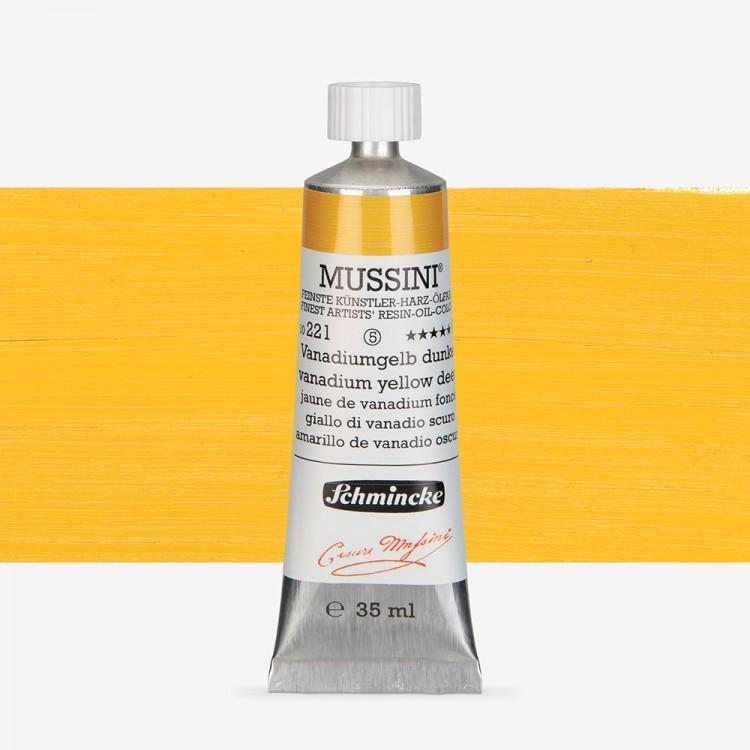 Schmincke : Mussini Oil Paint : 35ml : Vanadium Yellow Deep