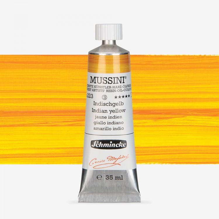 Schmincke : Mussini Oil Paint : 35ml :Indian Yellow
