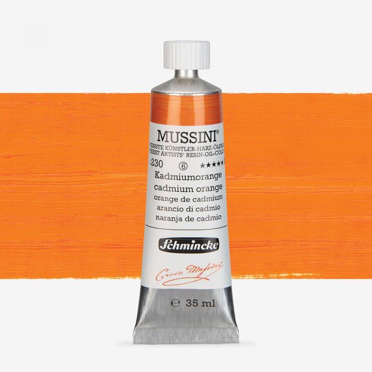 Schmincke : Mussini Oil Paint : 35ml : Cadmium Orange