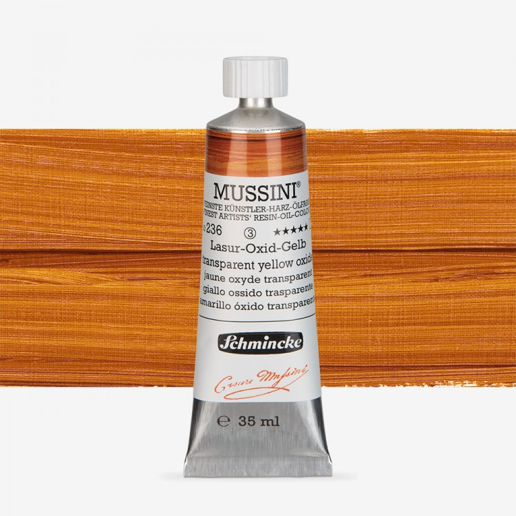 Schmincke : Mussini Oil Paint : 35ml : Translucent Yellow Oxide