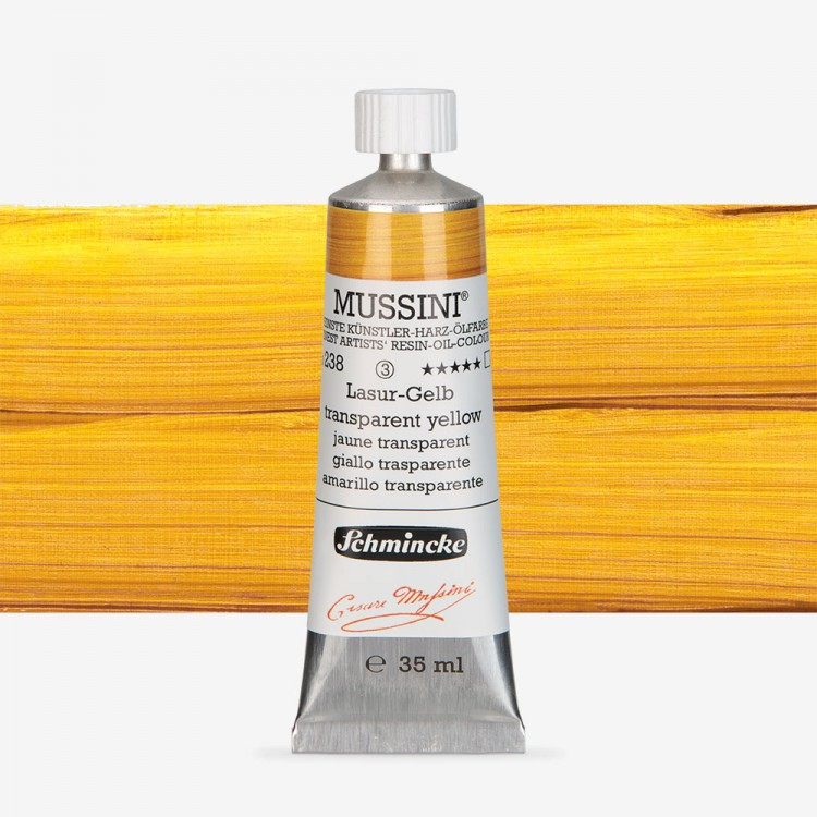 Schmincke : Mussini Oil Paint : 35ml : Translucent Yellow