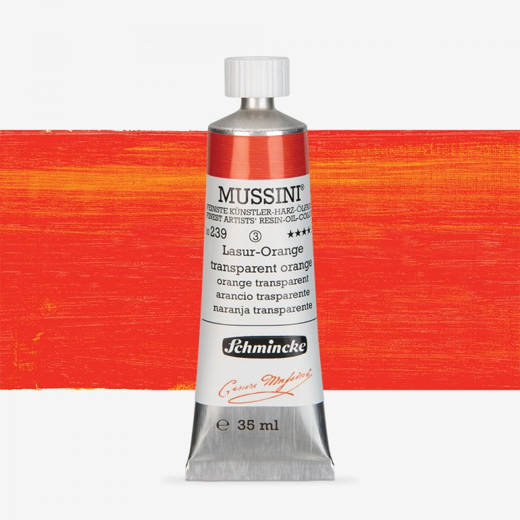 Schmincke : Mussini Oil Paint : 35ml : Translucent Orange
