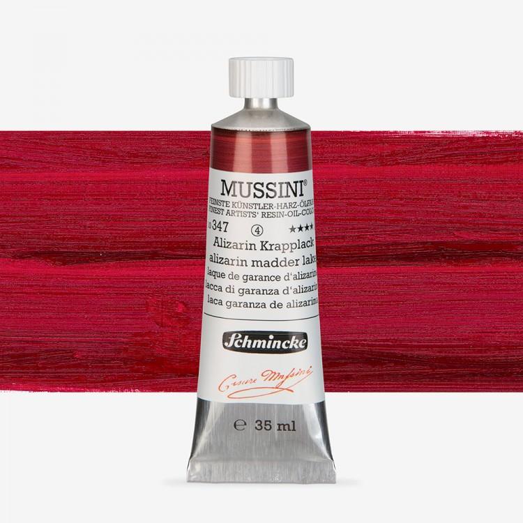 Schmincke : Mussini Oil Paint : 35ml : Alizarin Madder Lake